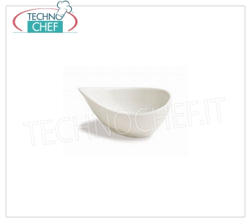 DROP FINGER FOOD BOWL, Colección Mini Party Ivory, Marca TOGNANA DROP BOWL, Mini Party Collection Ivory, 11x8 cm, h.5, marca TOGNANA - Disponible en paquetes de 8 piezas