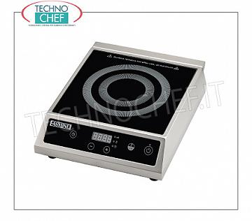 Technochef - PLACA DE INDUCCIÓN para mesa, SUPERFICIE INDUCTIVA Ø de 140 a 220 mm PLACA DE INDUCCIÓN para mesa, SUPERFICIE INDUCTIVA: diámetro de 140 a 220 mm, V. 230/1, Kw 2,7, Peso 5 Kg, dim. mm. 325x370x105h